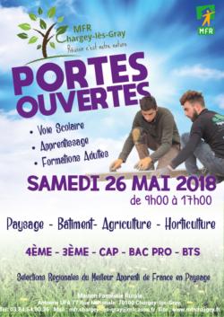PORTES OUVERTES LE SAMEDI 26 MAI 2018